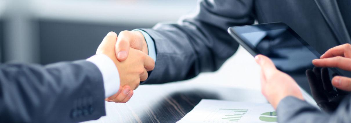 Leasingvertrag Handschlag